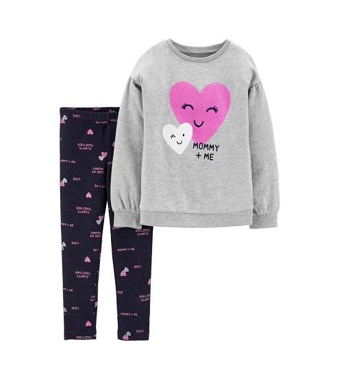 Купити Набір 2-Piece Mommy Heart Top & Knit Legging Set Carters (28373010) - фото 1