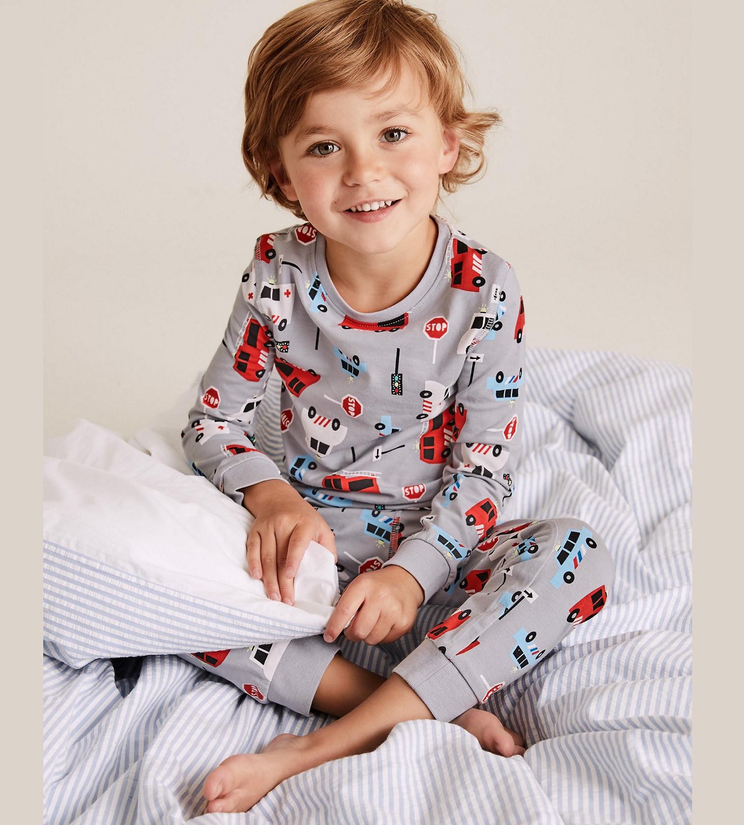 Купити Піжама Cotton Rich Fire Engine Pyjama Set M&S (T86/3704E) - фото 1