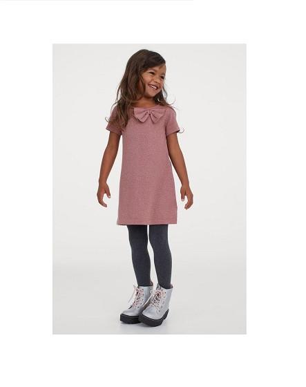 Купити Плаття H&M нарядне Пудра з люрексом - фото 1