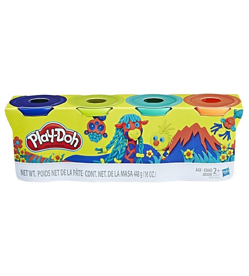 Купити Набір для ліплення Hasbro Play-Doh 4 баночки Вихованець - фото 1