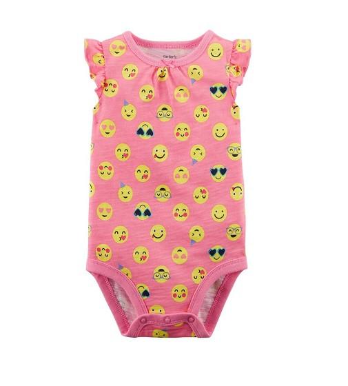 Купити Бодик Smiley Face Flutter-Sleeve Bodysuit Carters (118i108) - фото 1