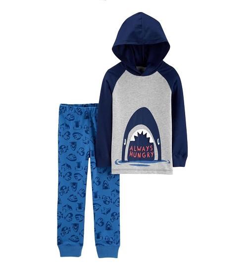 Купити Набір 2-Piece Shark Hooded Tee & Jogger Set Carters (2h359510) - фото 1