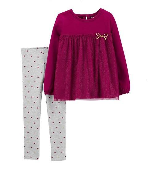 Купити Набір 2-Piece Babydoll Top & Heart Legging Set Carters (29556810) - фото 1