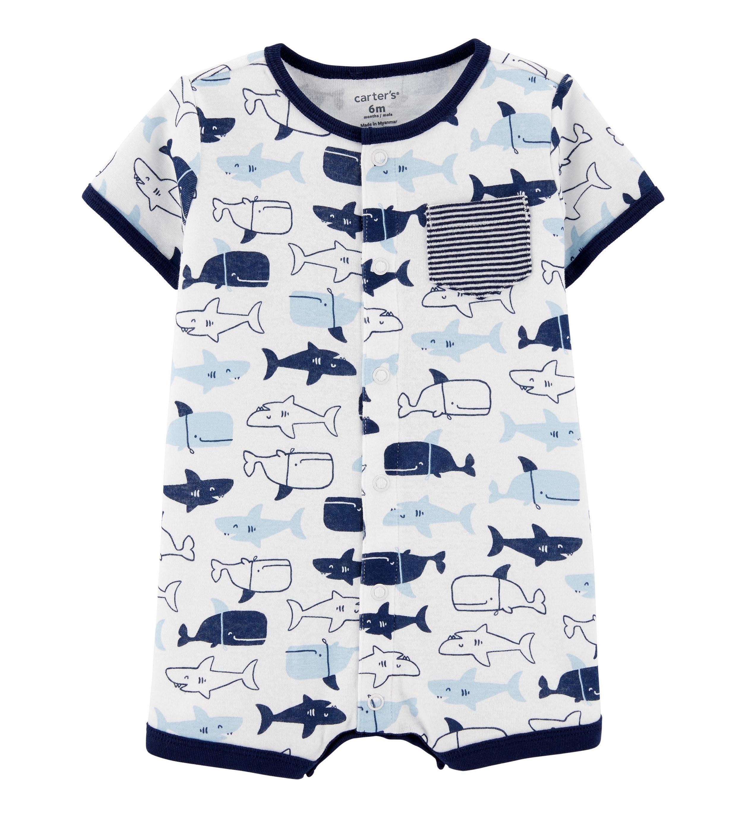 Купити Пісочник (Ромпер) Carters Sharks - фото 1