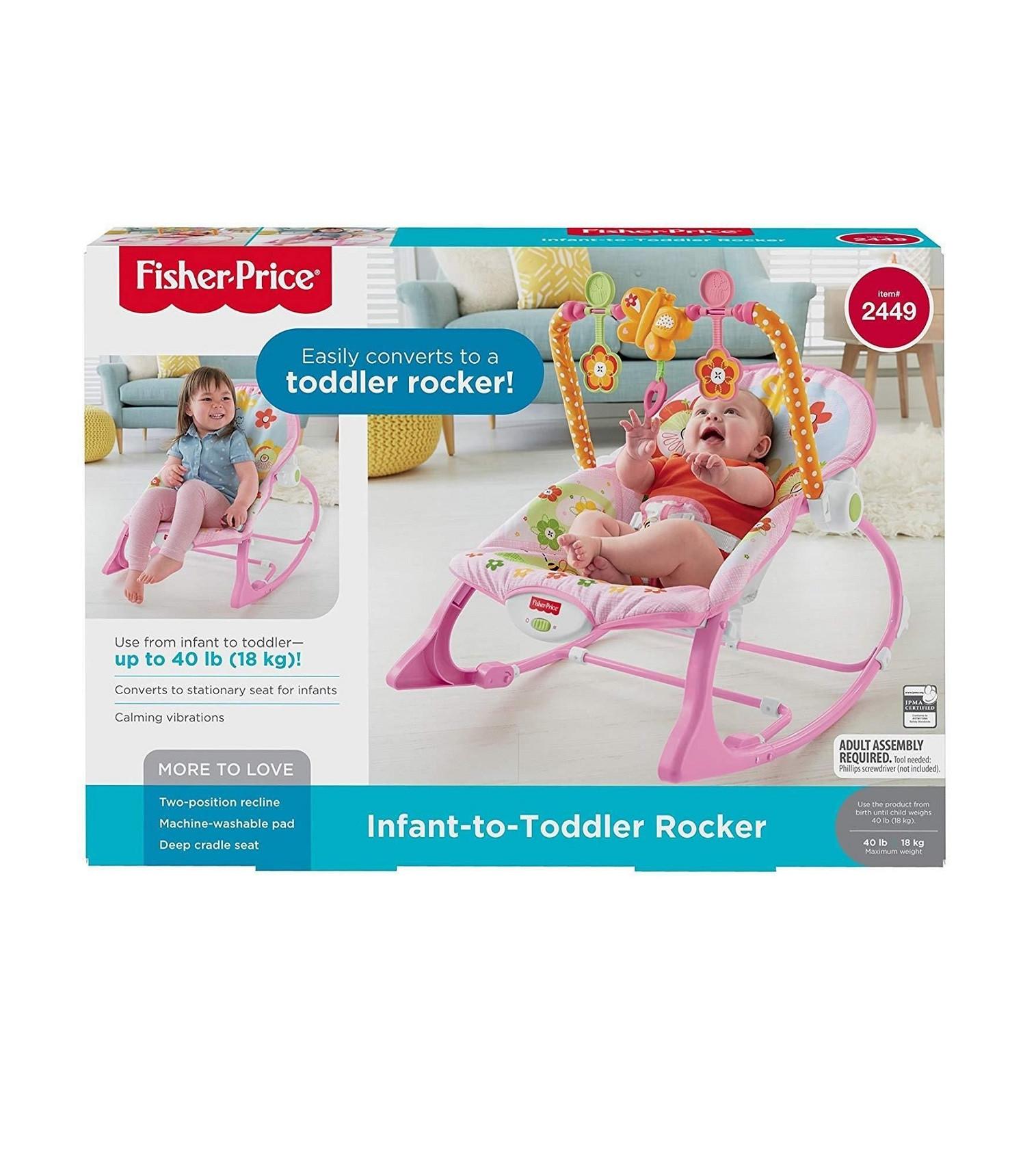 Купити Масажне крісло-качалка Fisher-Price Infant To Toddler Rocker Bunny - фото 1