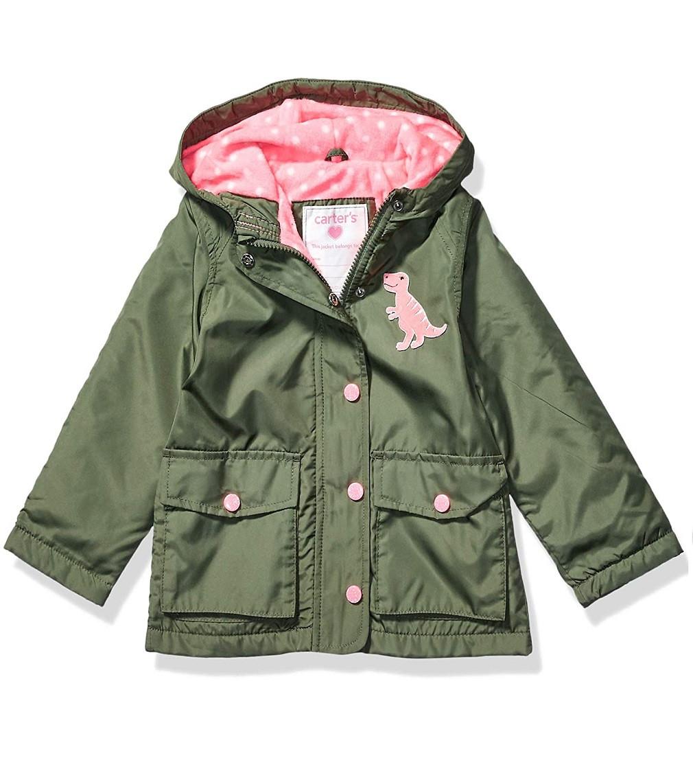 Купити Куртка на флісі Carters Olive Dinosaur - фото 1