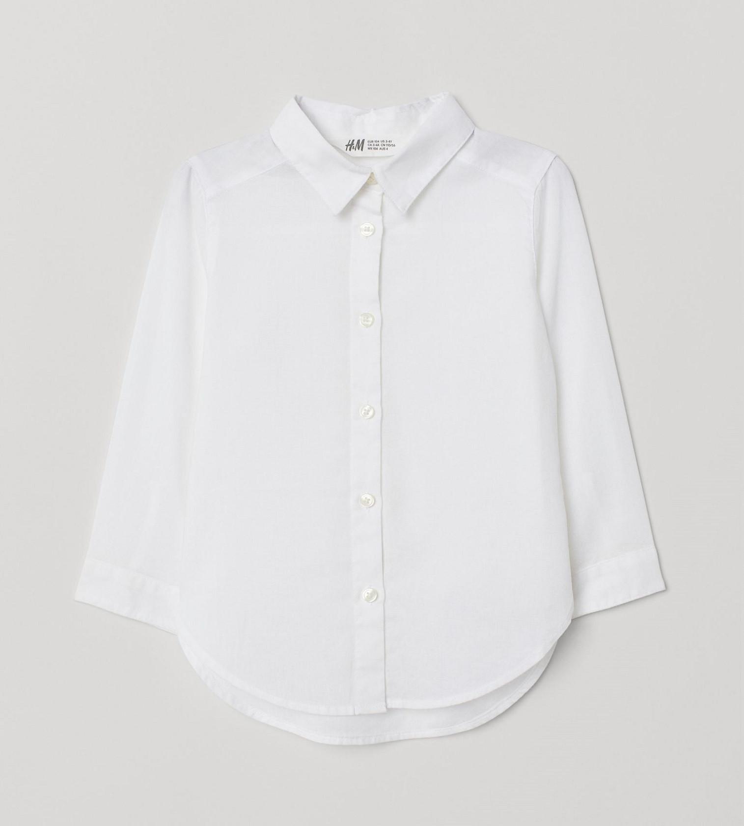 Купити Сорочка бавовняна H&M Біла - фото 1