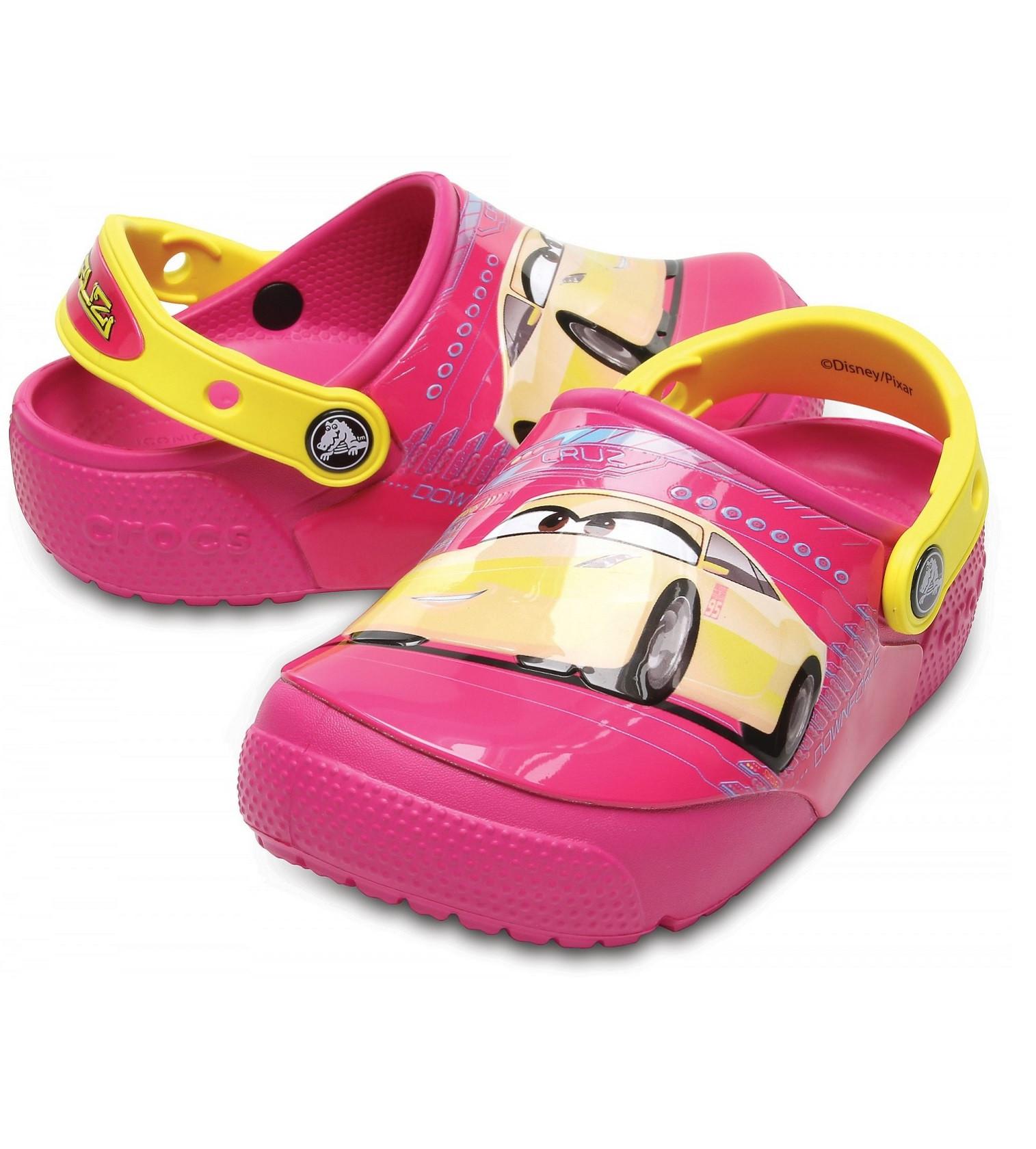 Купити Сабо Crocs Kids FunLab Lights Cars 3 Clog Flame - фото 1