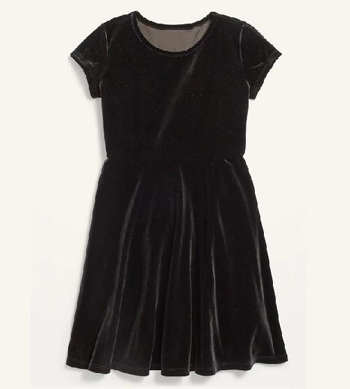 Купити Оксамитове плаття Old Navy з коротким рукавом Fit & Flare - фото 1