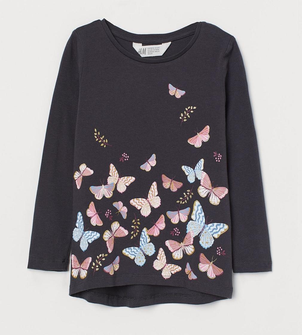 Купити Реглан H & M Темно-сірий / Метелики - фото 1