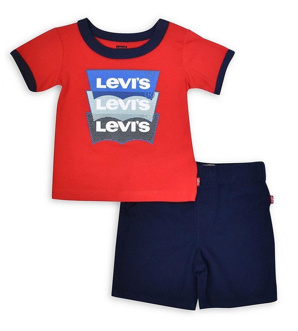 Купити Набір LEVI'S CottonT-Shirt & Shorts Set Red - фото 1