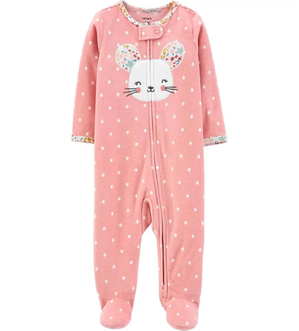 Купити Сліп Флисовый Mouse Zip-Up Fleece Carters: Pink - фото 1