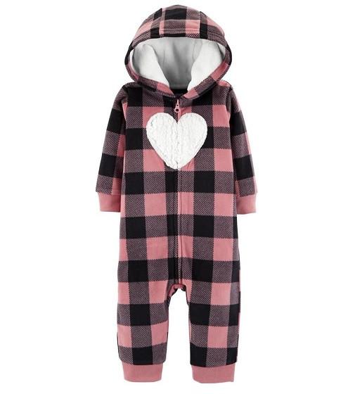 Купити Комбінезон флісовий Carters Plaid Hooded Fleece: Pink - фото 1