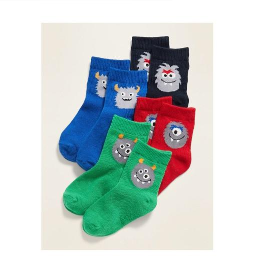 Купити Набір шкарпеток Unisex 4-Pack Monster Critter Socks Old Navy (614113) - фото 1