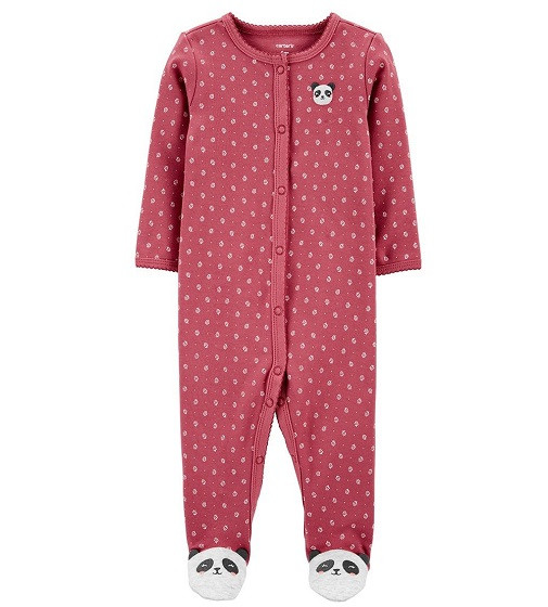 Купити Сліп Бавовняний Carters Panda Snap-Up: Pink - фото 1