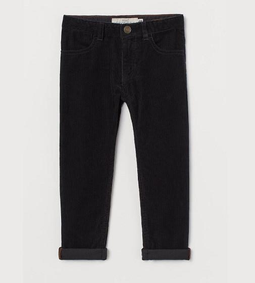 Купити Вельветові штани H&M Slim Fit: Чорний - фото 1