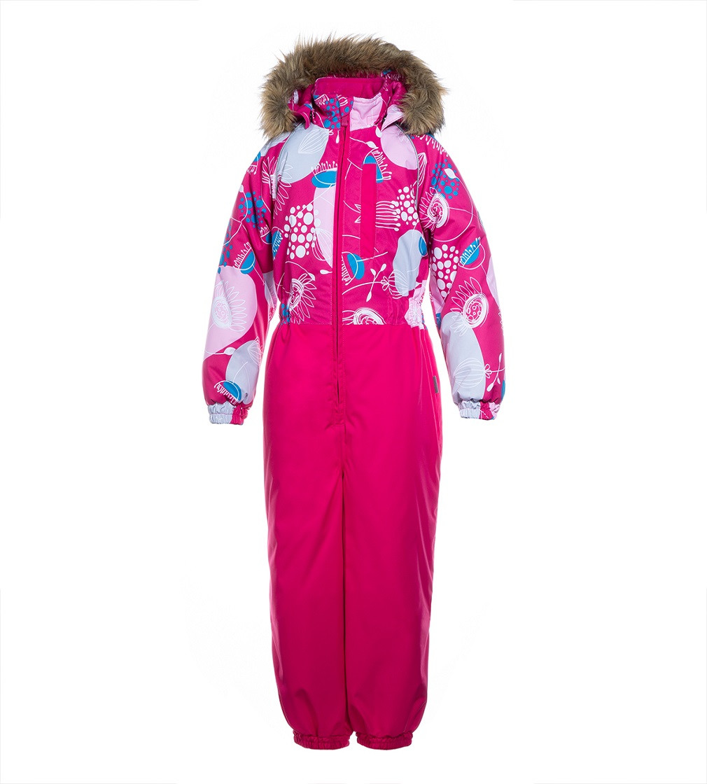 Купити Комбінезон Зимовий HUPPA Willy: fuchsia pattern/ fuchsia - фото 1