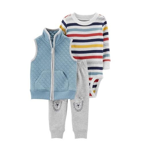 Купити Набір 3в1 Bear Little Vest Set Carters (18544910) - фото 1
