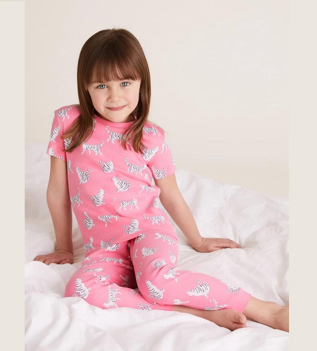 Купити Піжама M&S Cotton Cat Pink - фото 1