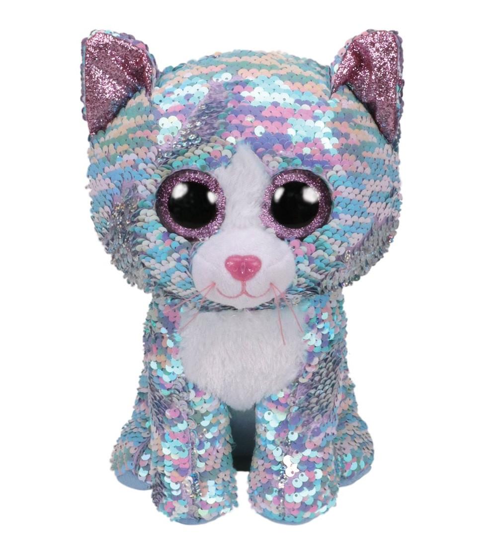Купити М'яка іграшка Ty Flippables™ Whimsy Sequin Blue Cat Голубе кошеня - фото 1
