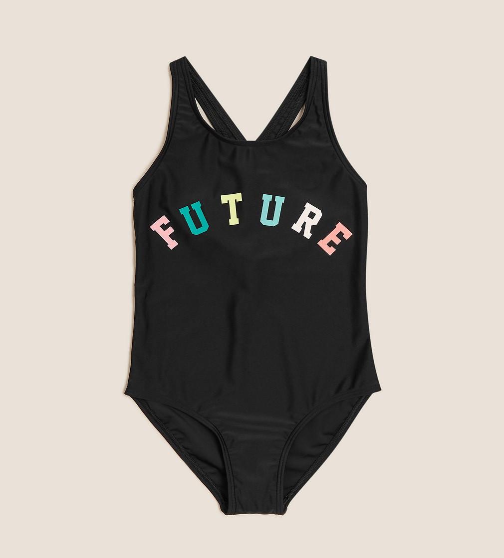 Купити Купальник M&S Future Slogan Black - фото 1