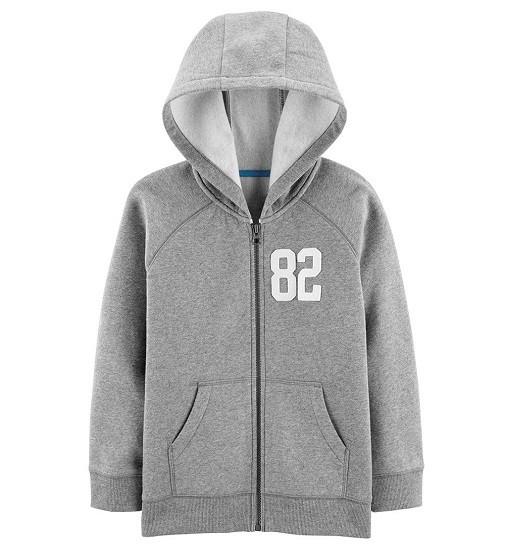 Купити Худі Carters Zip Up Fleece Lined: Grey - фото 1