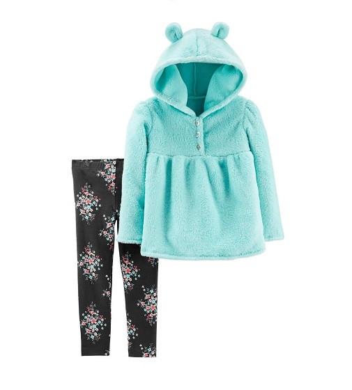 Купити Набір 2-Piece Fuzzy Pullover & Floral Legging Set Carters (28377810) - фото 1