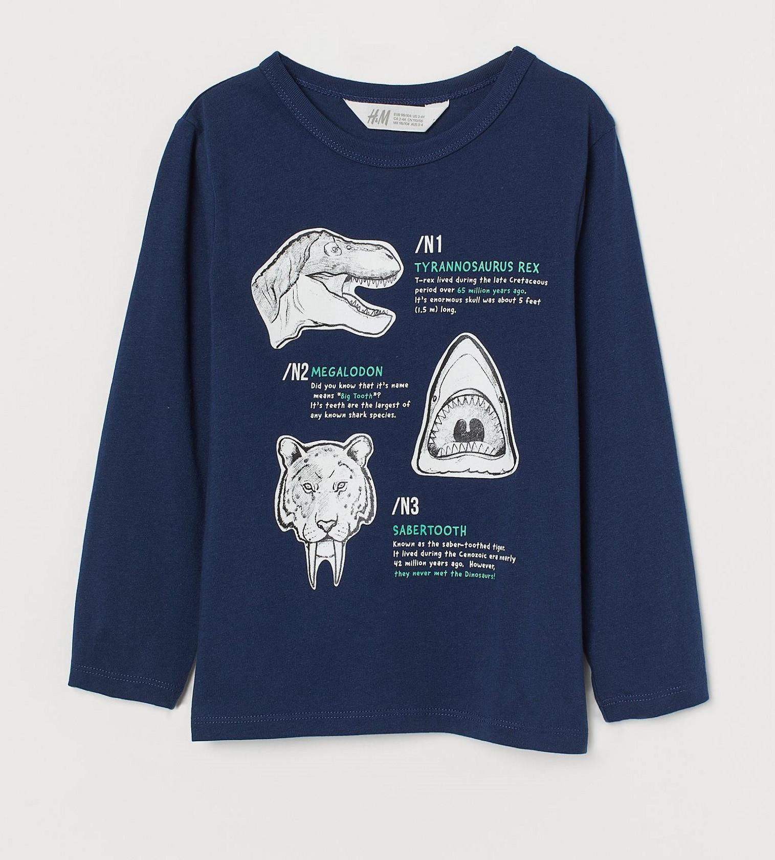 Купити Реглан H&M Navy blue/Extinct animals - фото 1