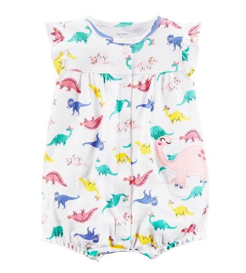 Купити Пісочник (Ромпер) Carters Dinosaur White/pink - фото 1