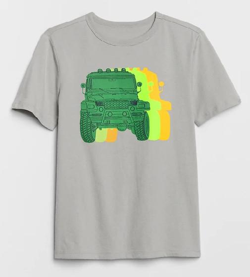 Купити Футболка Gap Graphic T-Shirt Джип: silver - фото 1