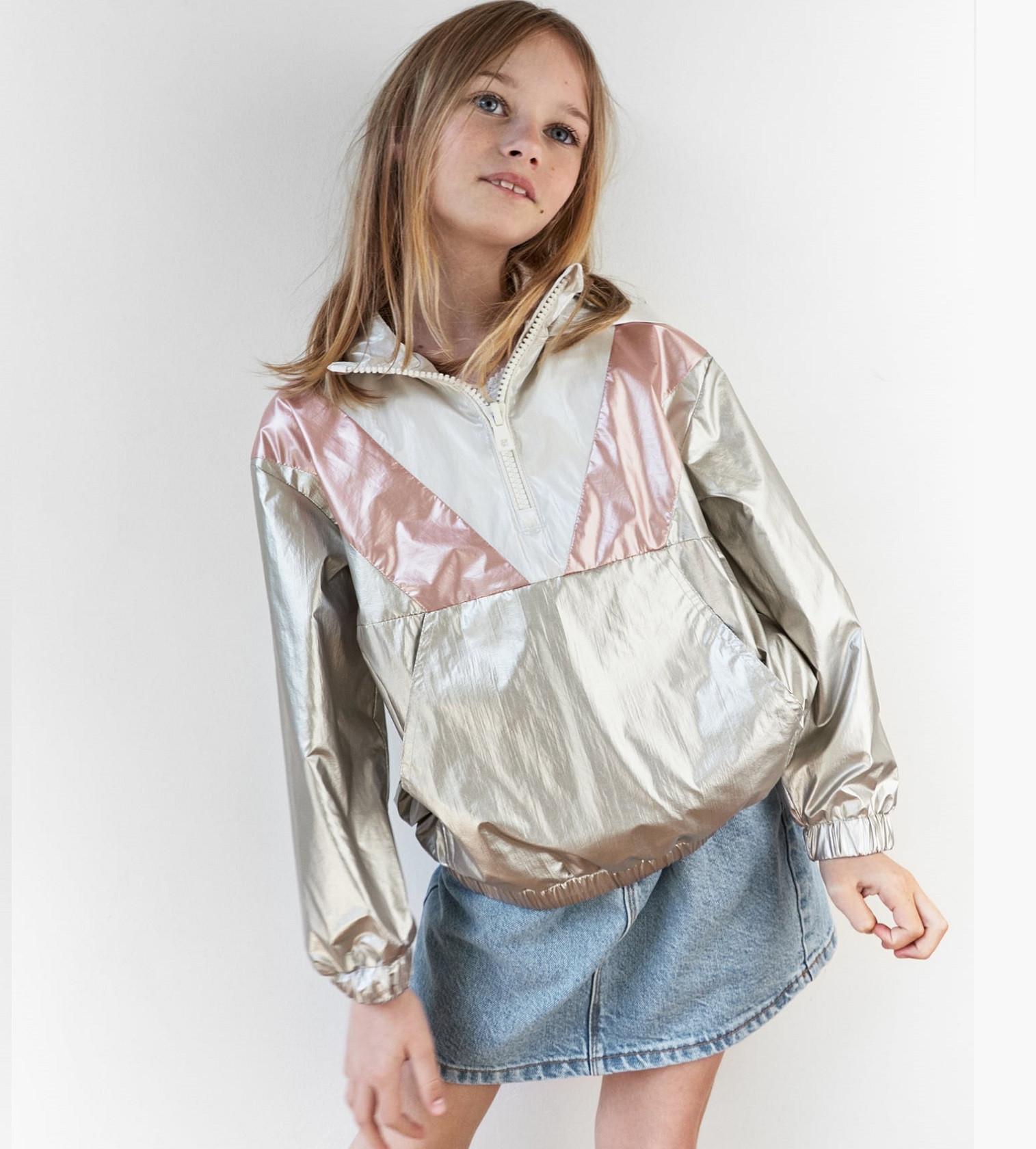 Купити Вітрівка Zara METALLIC RAINCOAT Silver - фото 1