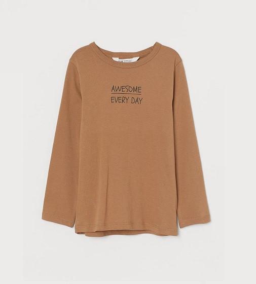 Купити Реглан H&M Printed jerse: Dark beige/Awesome - фото 1