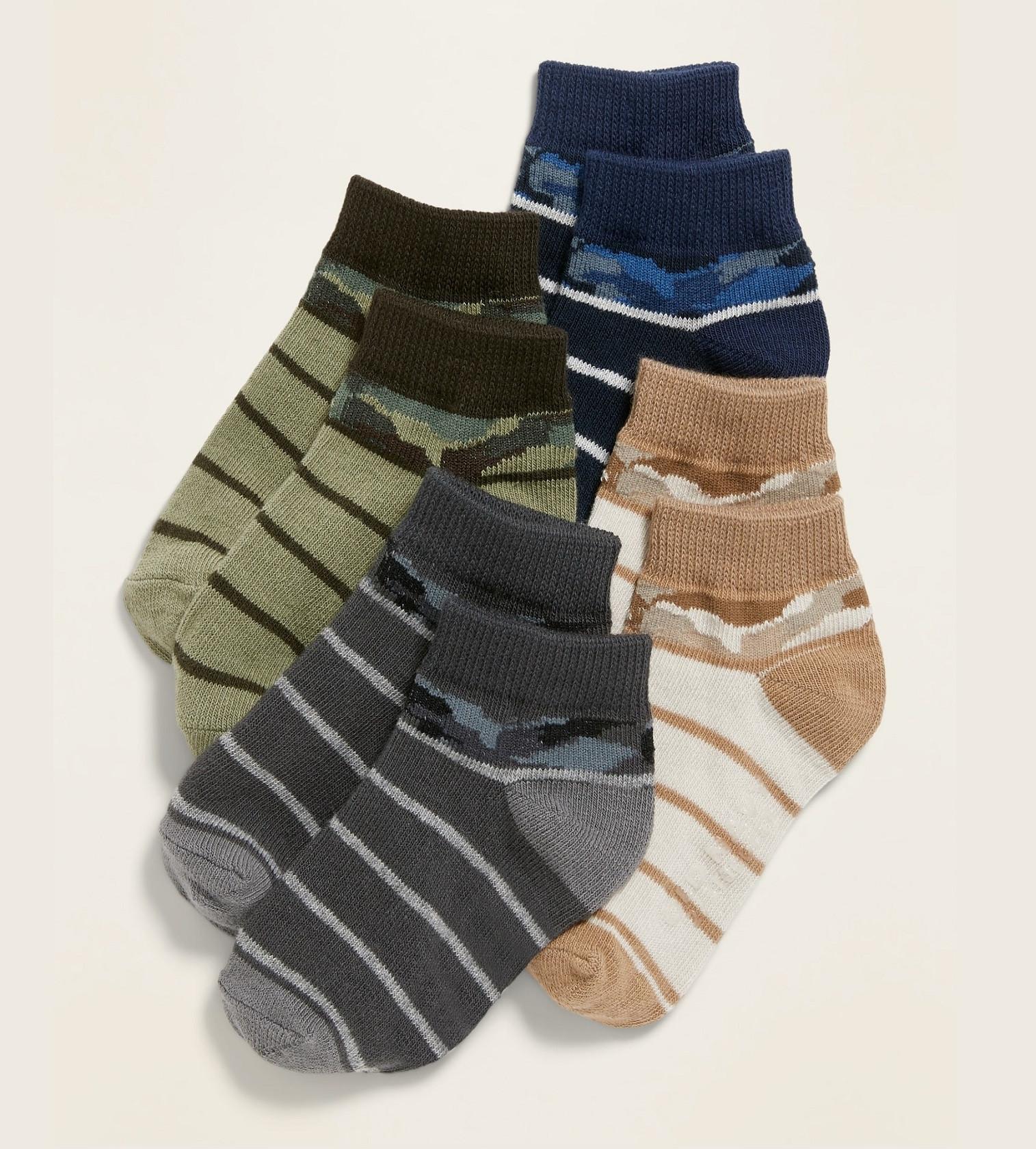 Купити Набір шкарпеток Camo-Print Ankle Socks 4-Pack Old Navy - фото 1