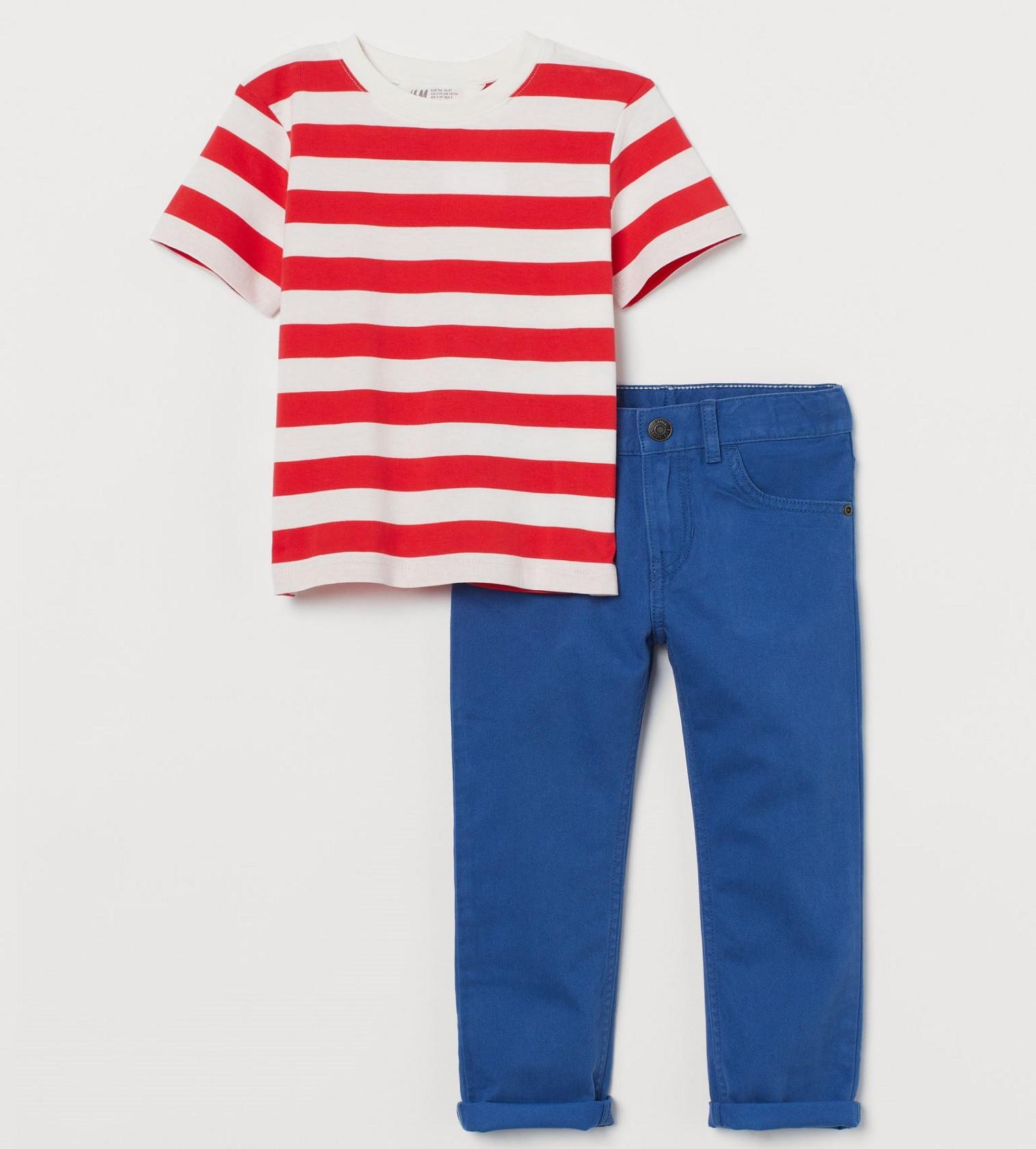 Купити Набір H&M cotton set: Blue/Striped - фото 1