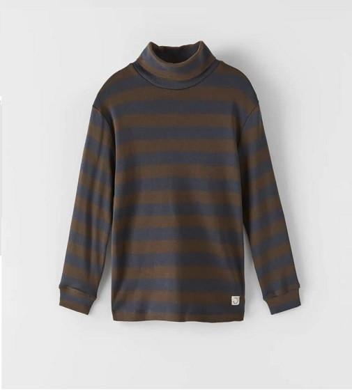 Купити Гольфик Zara STRIPED TURTLENECK: Brown-Blue - фото 1