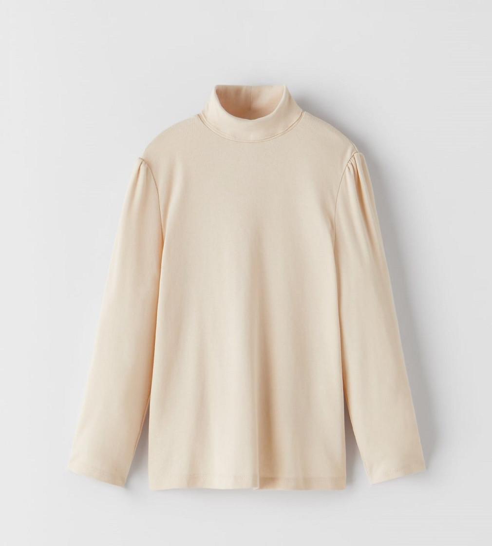 Купити Гольфик рубчик Zara turtleneck: Light beige - фото 1