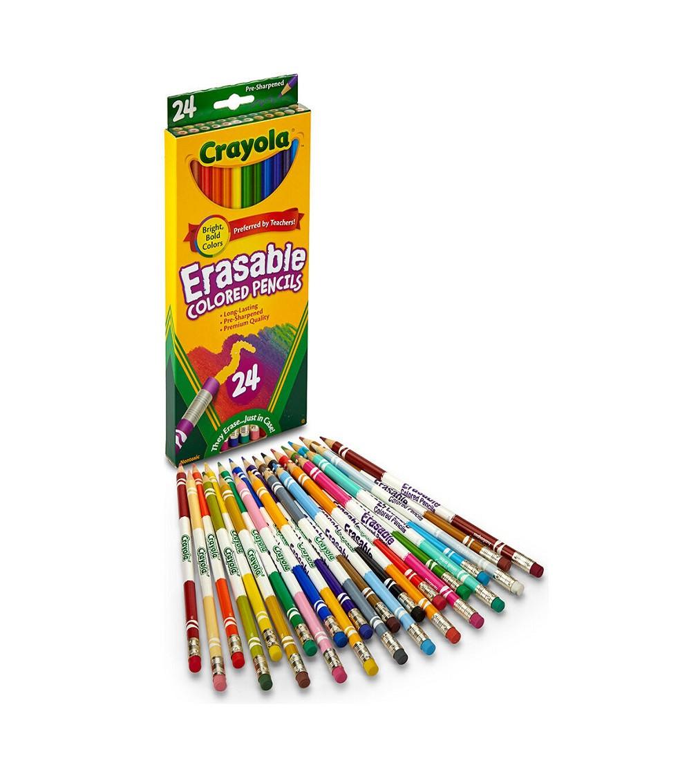 Купити Кольорові карандаши CRAYOLA Erasable Colored Pencils 24 шт - фото 1