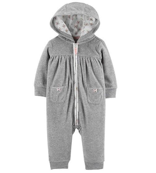 Купити Комбінезон флісовий Carters Hooded Zip-Up Fleece: Multi - фото 1