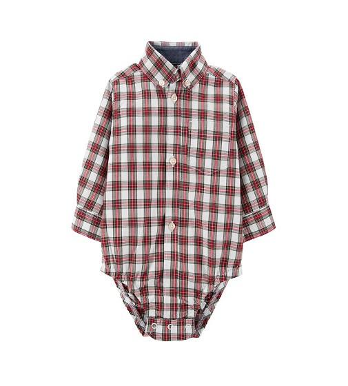 Купити Бодик сорочка Plaid Button-Front Bodysuit Carters (18467311) - фото 1