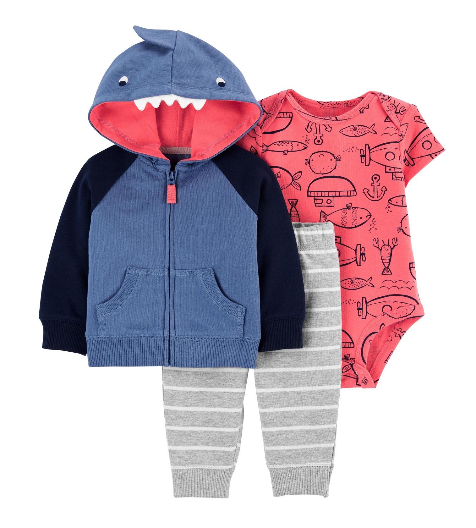 Купити Набір 3в1 Carters Shark Little Jacket Set - фото 1
