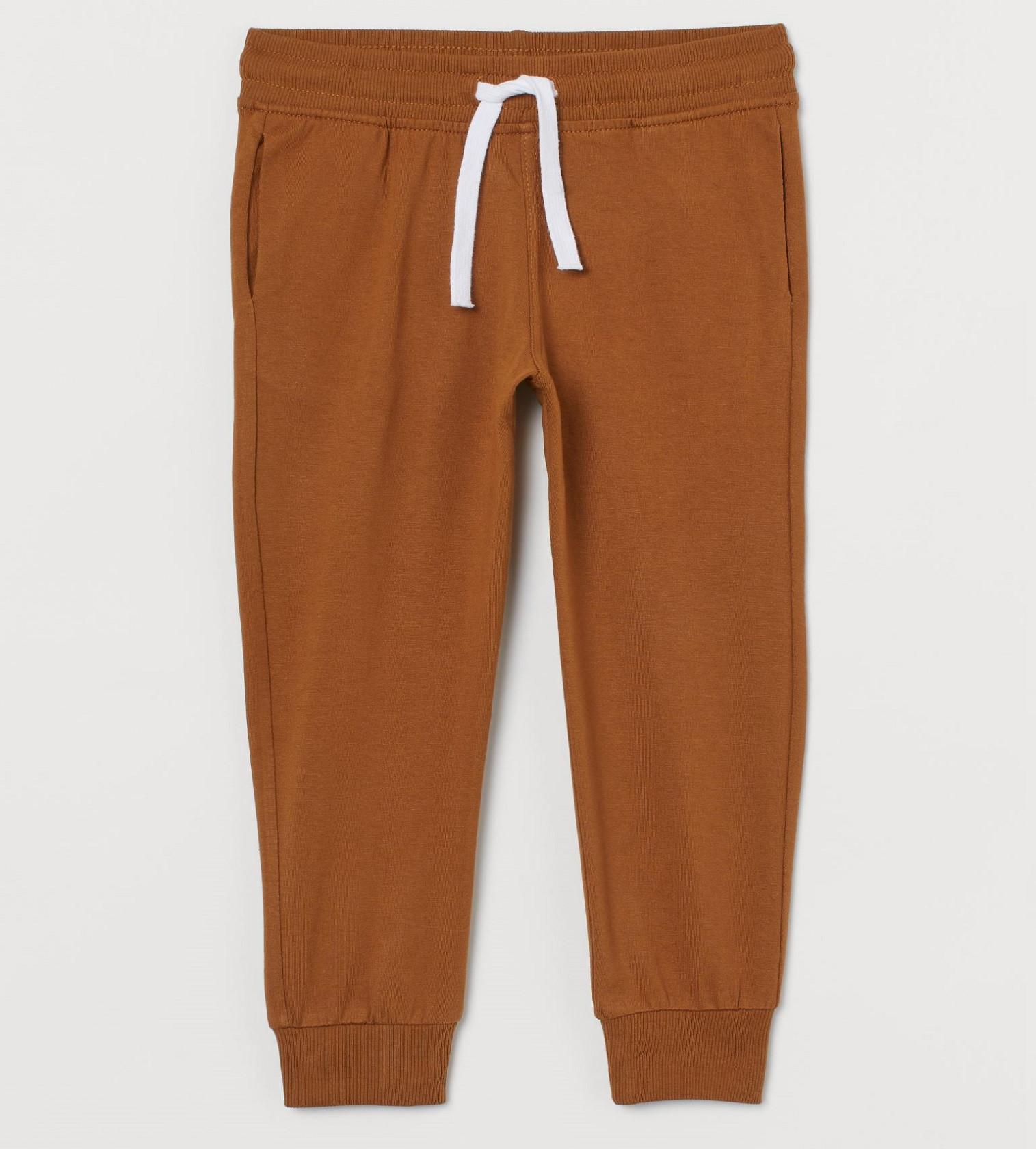 Купити Штани Тонкі Jersey joggers H&M Brown - фото 1