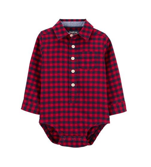 Купити Бодік сорочка Червона клітка - фото 1