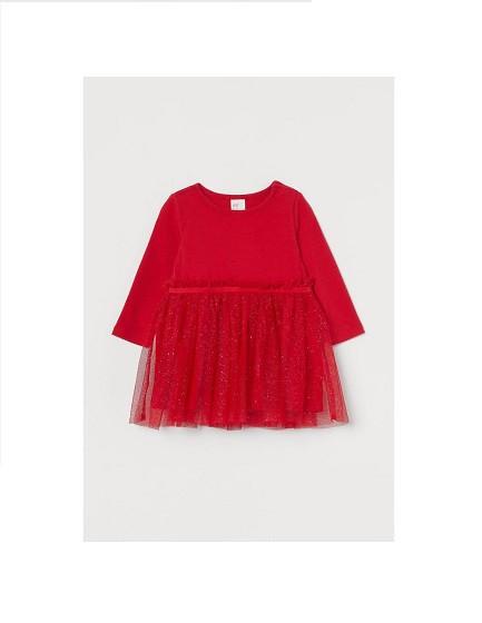 Купити Сукня червона ошатне з фатином - фото 1