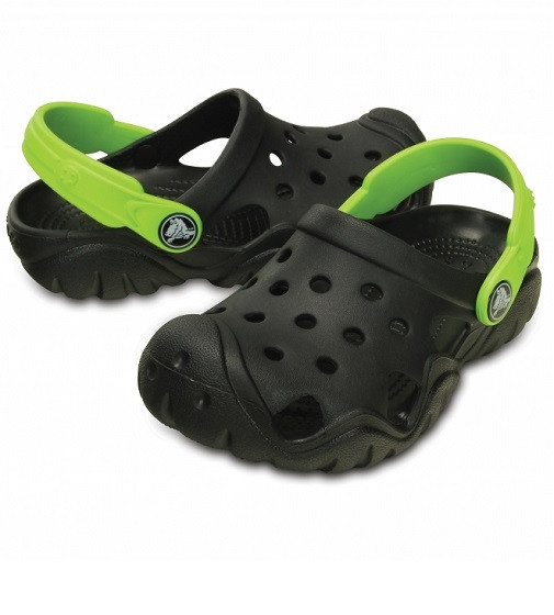 Купити Дитячі сабо Crocs SWIFTWATER Kids Black/Volt Green - фото 1