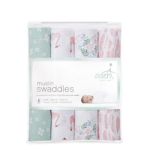 Купити Набір мусліновий пелюшок Aden 4-Pack Cotton Briar Rose - фото 1