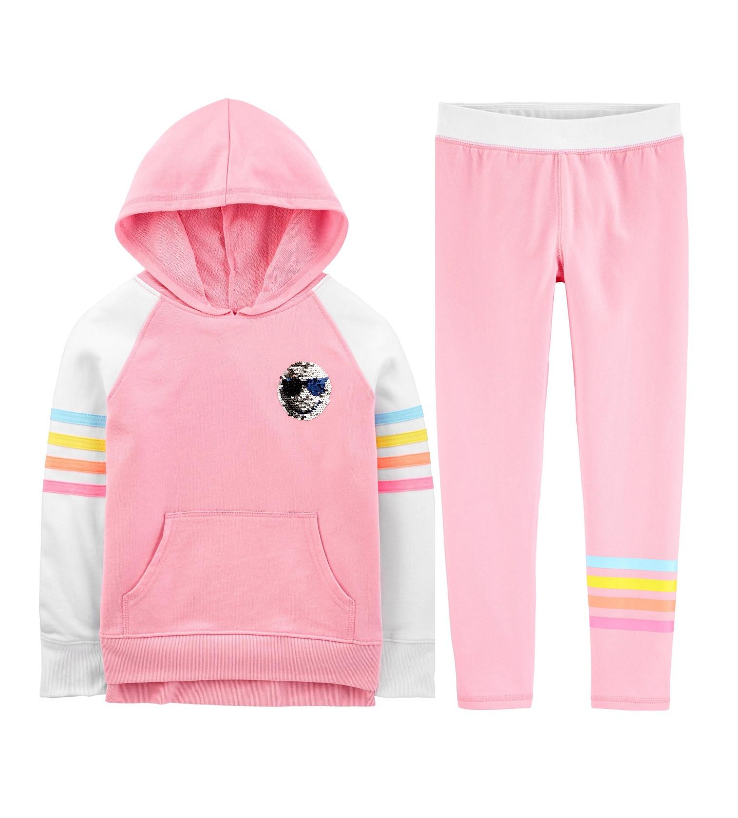 Купити Костюм OshKosh на махрі Smiley Face Pink, Multi - фото 1