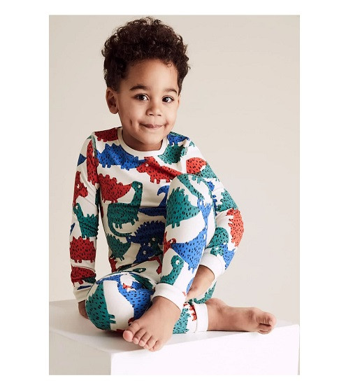 Купити Піжама Cotton Dinosaur Print Pyjama Set M&S T86/3716E - фото 1