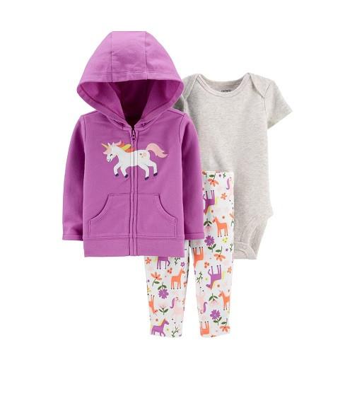 Купити Костюм 3-Piece Unicorn Little Jacket Set - Baby Girl Carters (1h290210) - фото 1