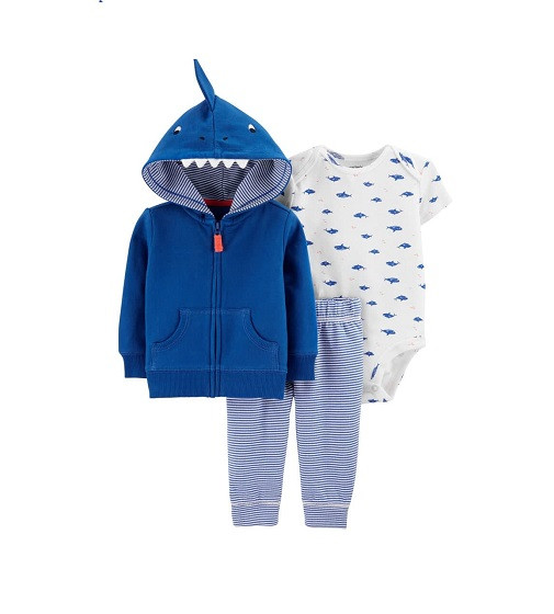 Купити Набір 3в1 Shark Little Jacket Set Carters (1H291010) - фото 1