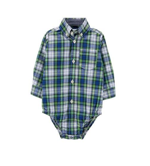 Купити Бодик сорочка Plaid Button-Front Bodysuit Carters (18467313) - фото 1
